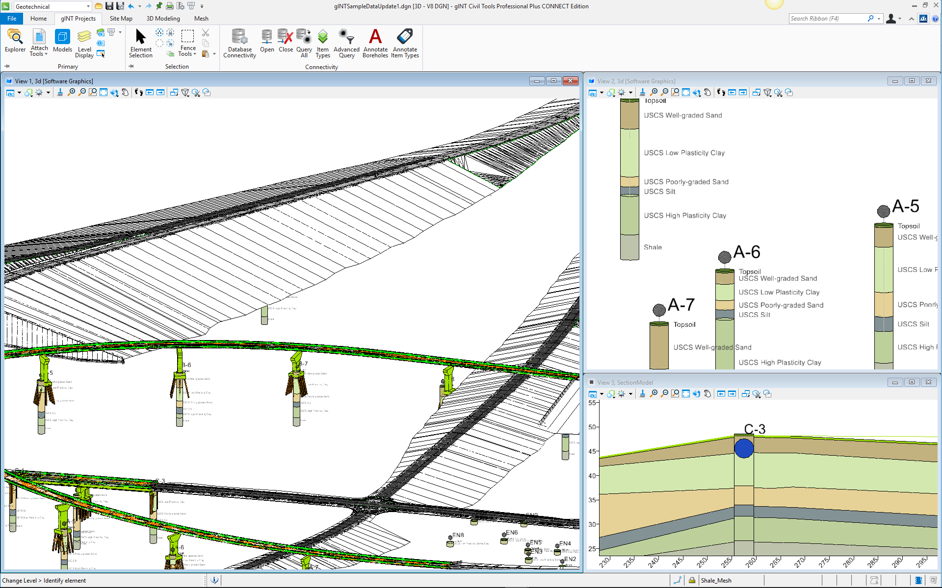 Geotechnical Subsurface Data 3D