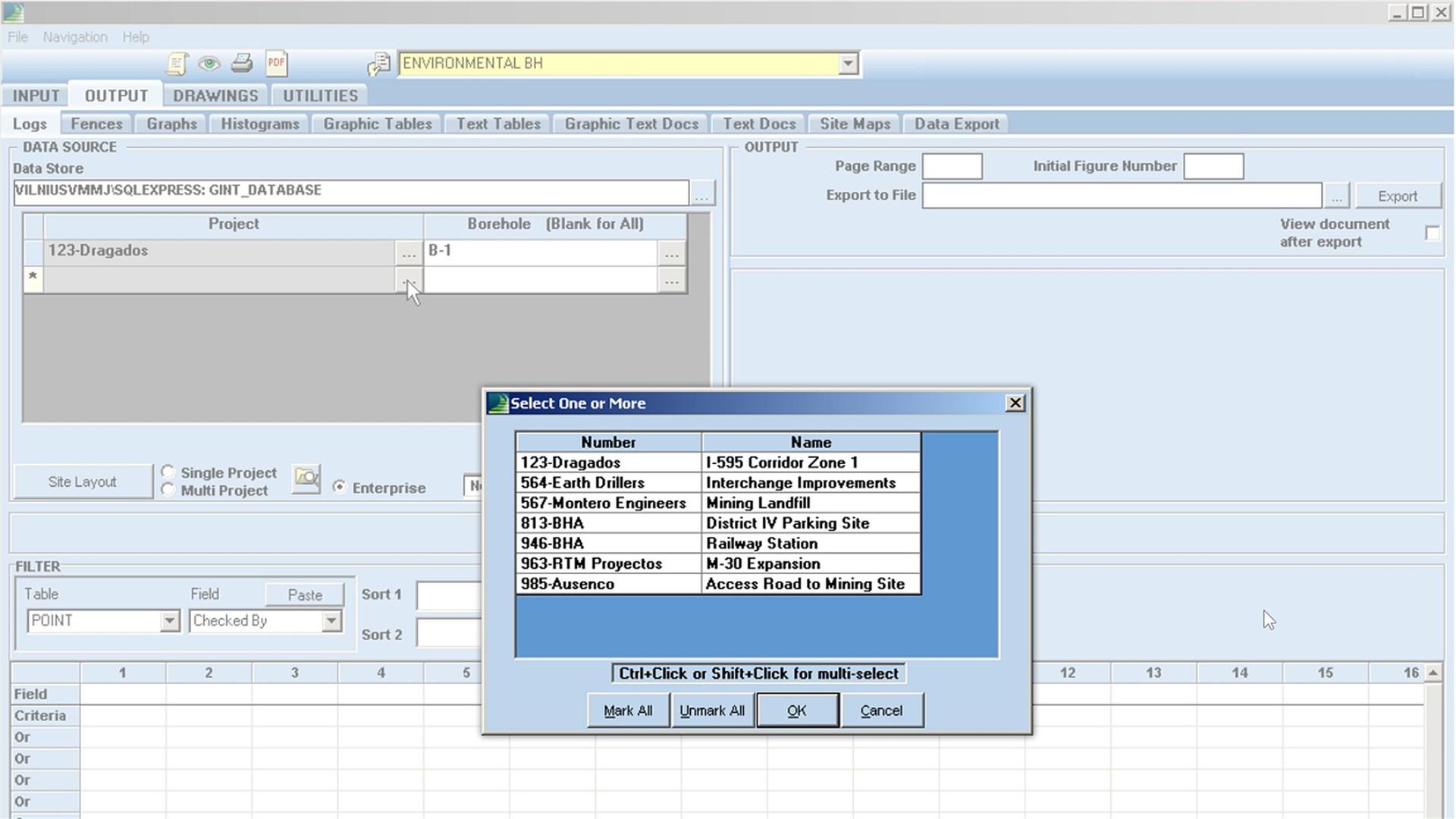 Create Multi Project Reports