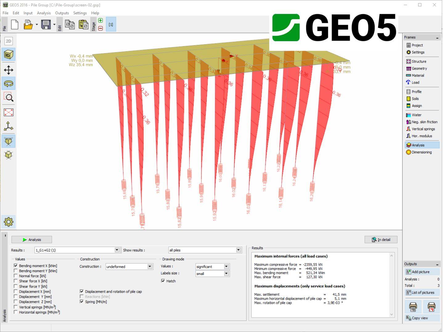 Geo5 Pile Group Geoengineer Org