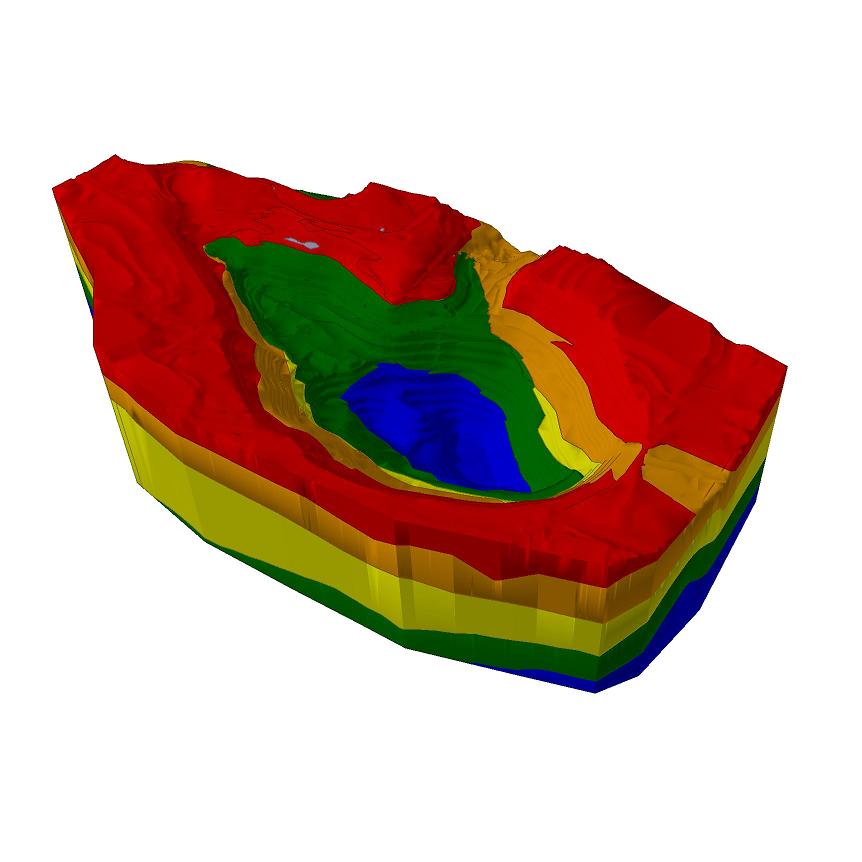 Slide3 Model Complex Open Pit Mine Geometry