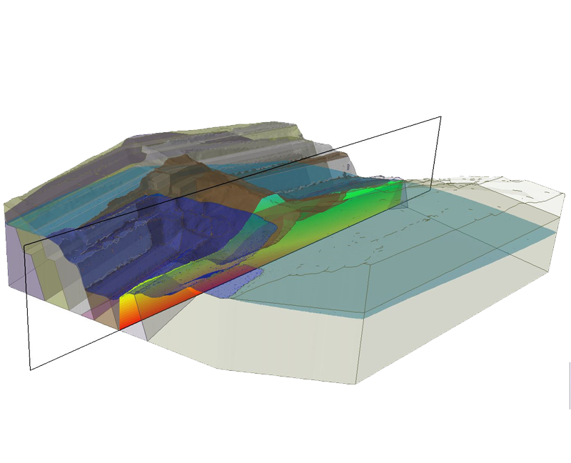 3D finite element seepage analysis can be used to determine groundwater pore pressure and flows for steady-state or transient conditions