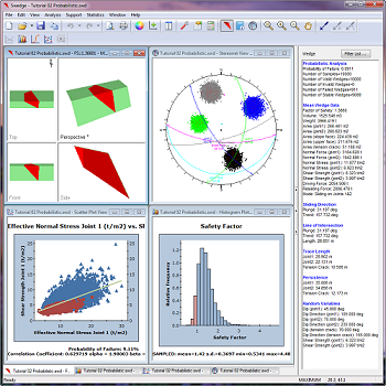 Probabilistic analysis results in SWedge.