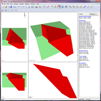 Model tetrahedral wedges using basal joint.