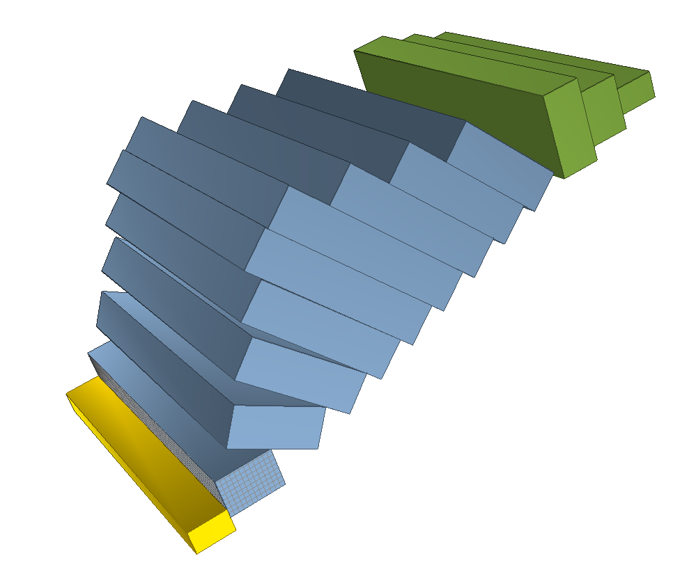 Dynamic view of toppling.