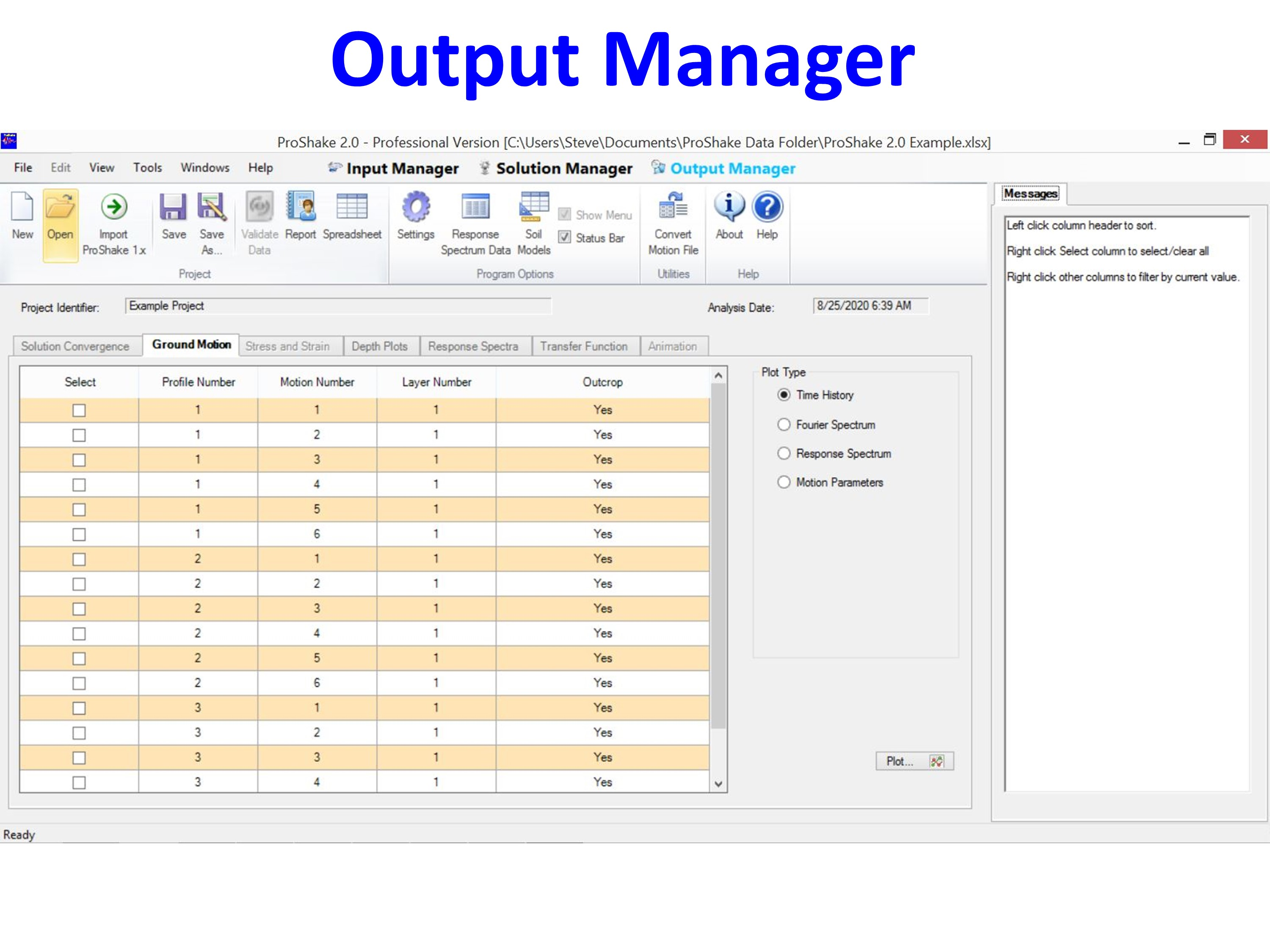 Output Manager