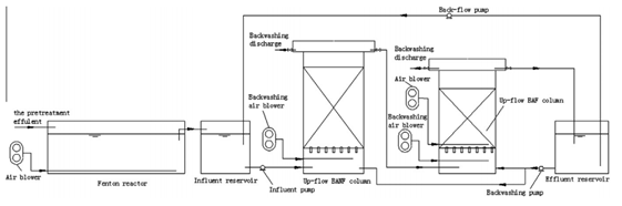 Figure 4.5: Schematic View of One Stage of the Combined Treatment Process